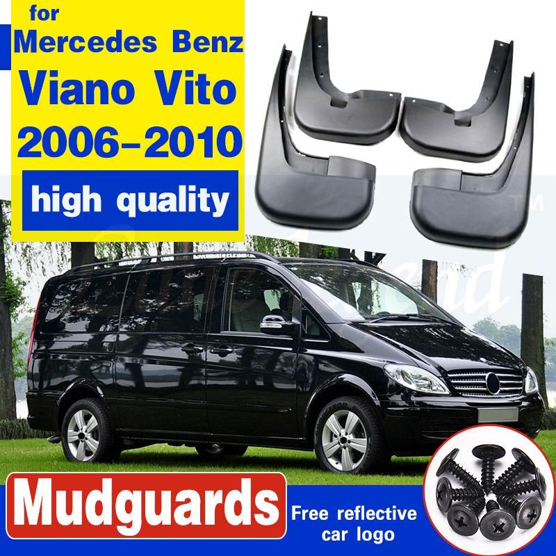 4pcs carro Mud Flaps respingo guarda-lamas Fender universal para Mercedes Benz Viano Vito Acessórios 2006 2007 2008 2009 2010