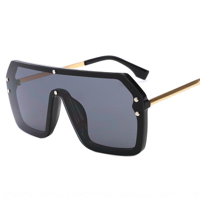 New uma peça sol 6998 de uma peça lente letra F moda Grande frame revestido óculos de sol óculos de sol