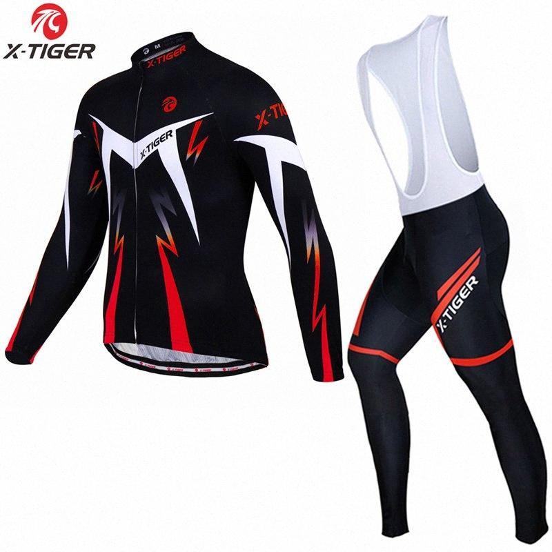 X-Tiger inverno CICLA Maglie maniche lunghe Set MTB della bicicletta vestiti della bici di montagna Abbigliamento sportivo Indossare tute y0rl #