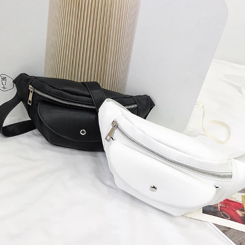 Coneed Bag Bag Pack Mulheres Sacola Pequena Bolso Zipper Sólida Moda Versátil Ombro Messenger Cintura MAY29 TDDHX