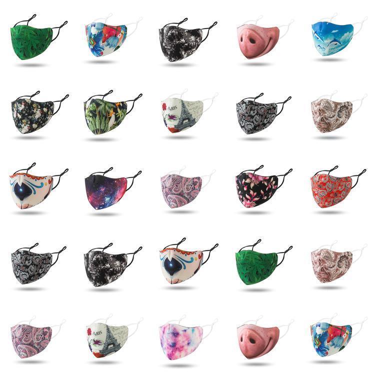 Máscaras de la nariz aqua diseñador de la cara reutilizable divertidos Mascherine alta moda de tela lavable Negro Rojo cielo estrellado máscara adulta Vbjvy Mycutebaby007