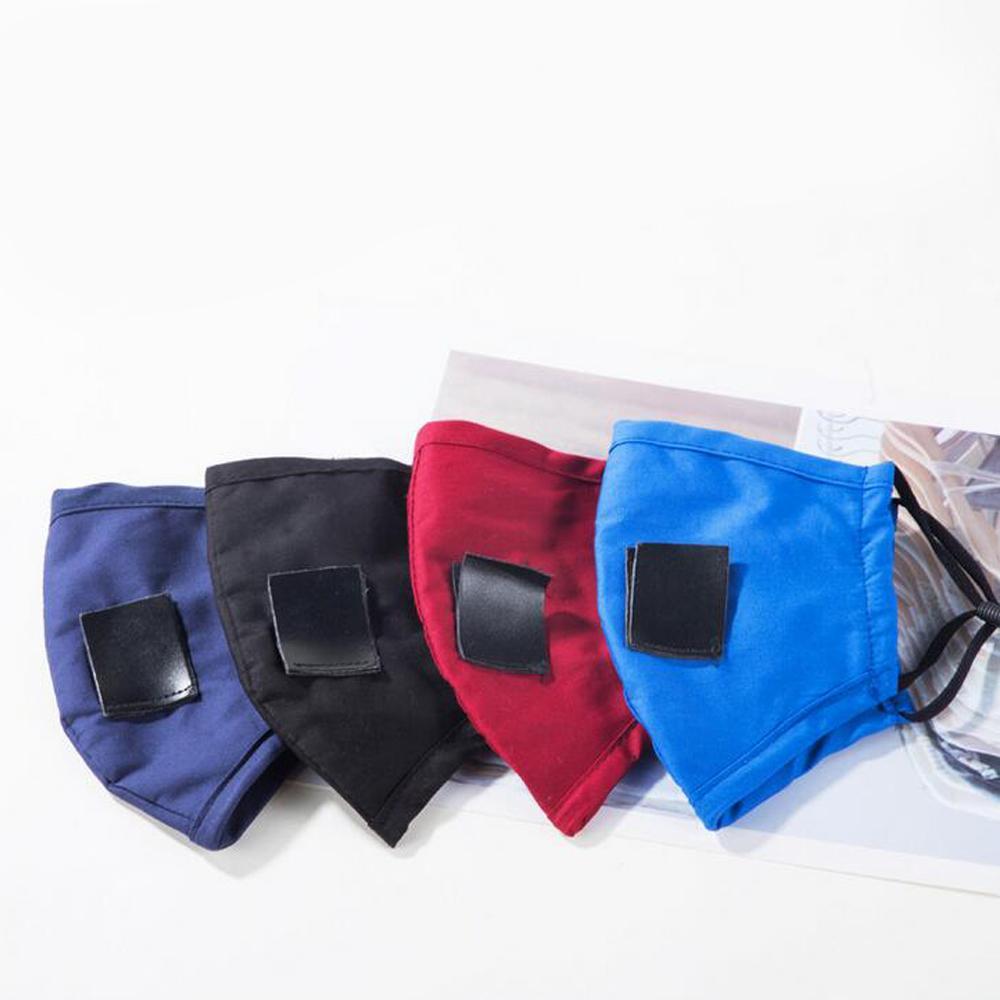 Coton adultes enfants masque visage masque à boire avec trou pour paille réutilisable lavable masque anti-poussière masque de bouche d'extérieur 5 couleurs
