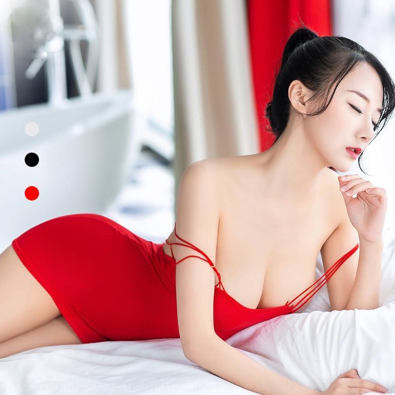 ouvtR YmoiB Nette hohe Straps elastisches Öl beleuchteten Seil Querhosenträgerrockvolle Pyjamas Mädchen-style-Rock Unterwäsche Sling Unterwäsche