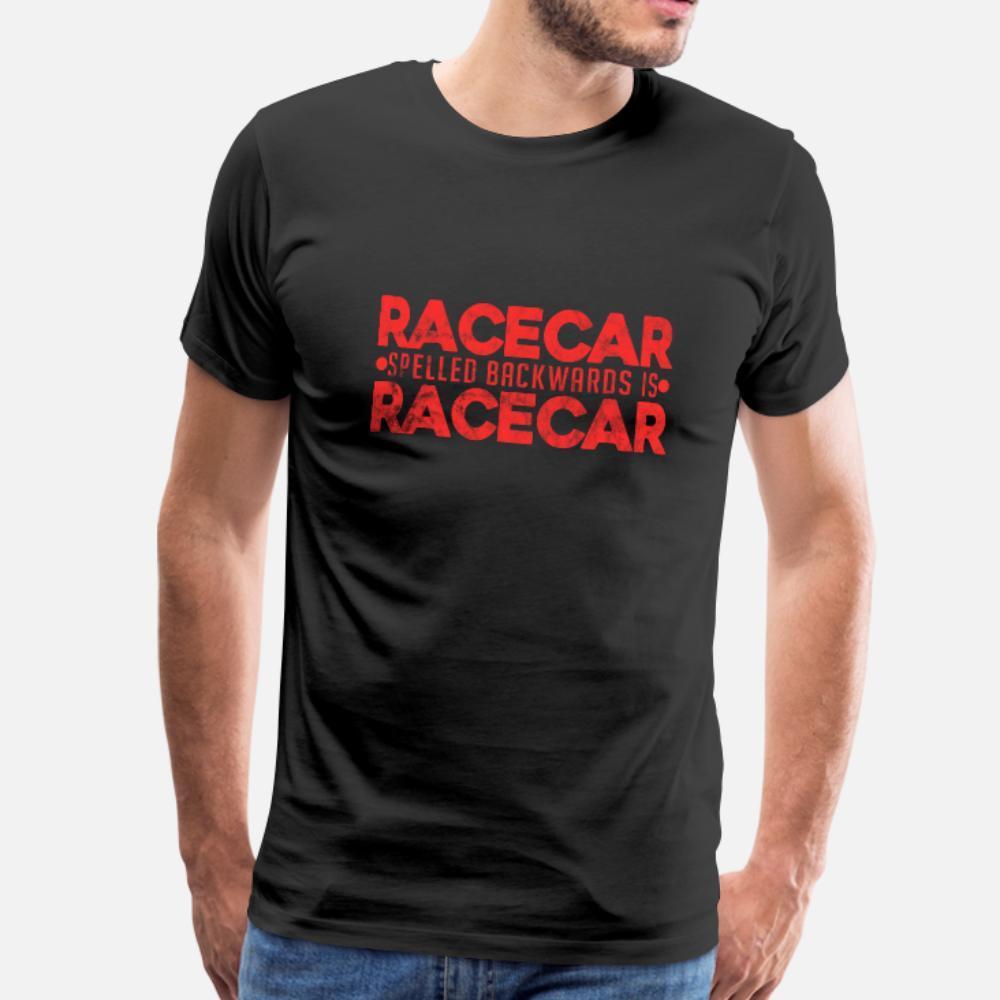 Racecar Spelt Geriye Drag Yarışı Lover Hediye t gömlek erkekler Kısa Kollu S-3XL Standart Sevimli Bina Bahar Benzersiz gömlek Tasarımları