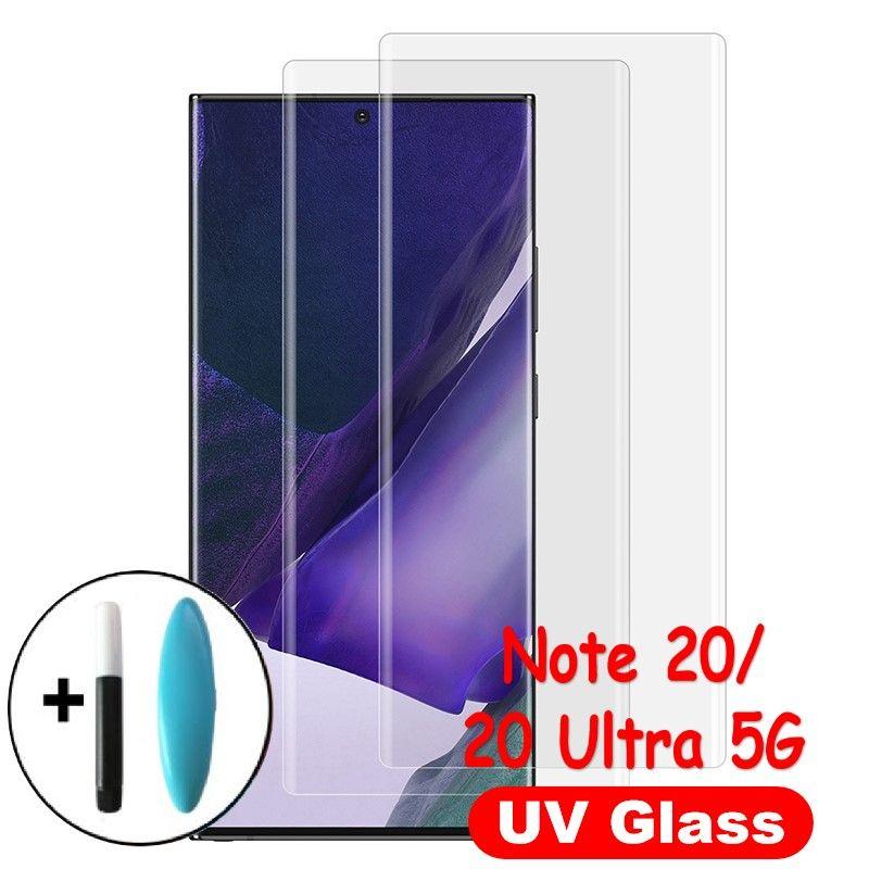 UV di vetro per Samsung Galaxy Note schermo 20 5G completa Nano Liquid protector per Samsung Nota 20 Ultra 5G temperato Film Glass