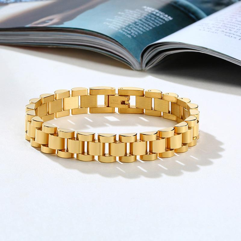 10MM WATCH BAND BRACELET FOR WOMEN STAINLESS STEEL LINK BRACELET
