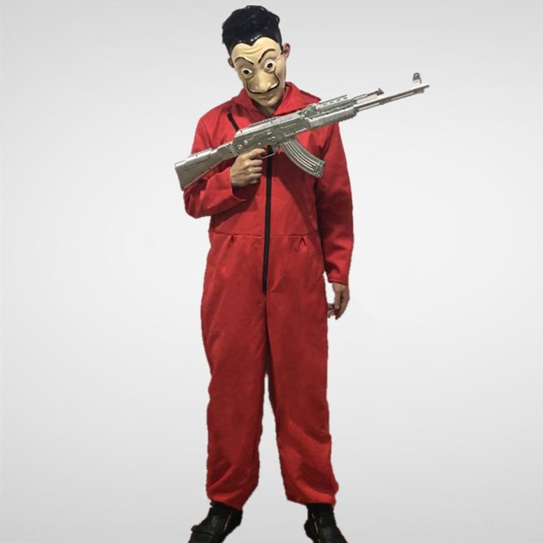 EF2lb cosplay Dali mono rojo de papel Animación casa del dinero cosplay Dali rojo mono ropa de casa del dinero de papel Animación Ropa