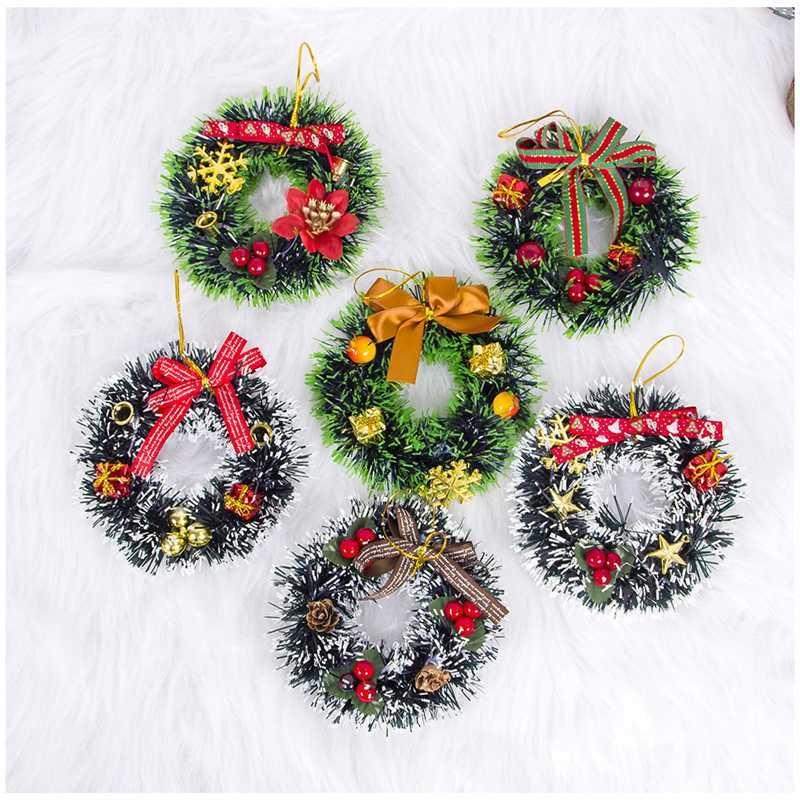 Рождественская елка Венок украшения кулон Рождественская елка Декор Колокол Новый год 2020 Предновогодние Орнамент Ноэль Garland Подарки Сумка
