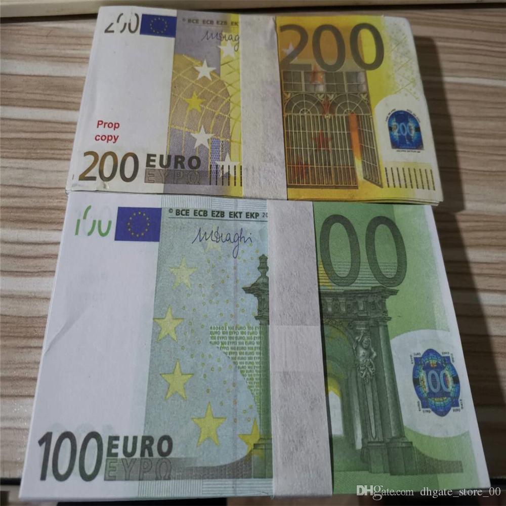 Nova 10 20 50 100 Euro dinheiro falso boleto dinheiro Filme falso boleto do euro 20 jogo Recolha e Presentes M26