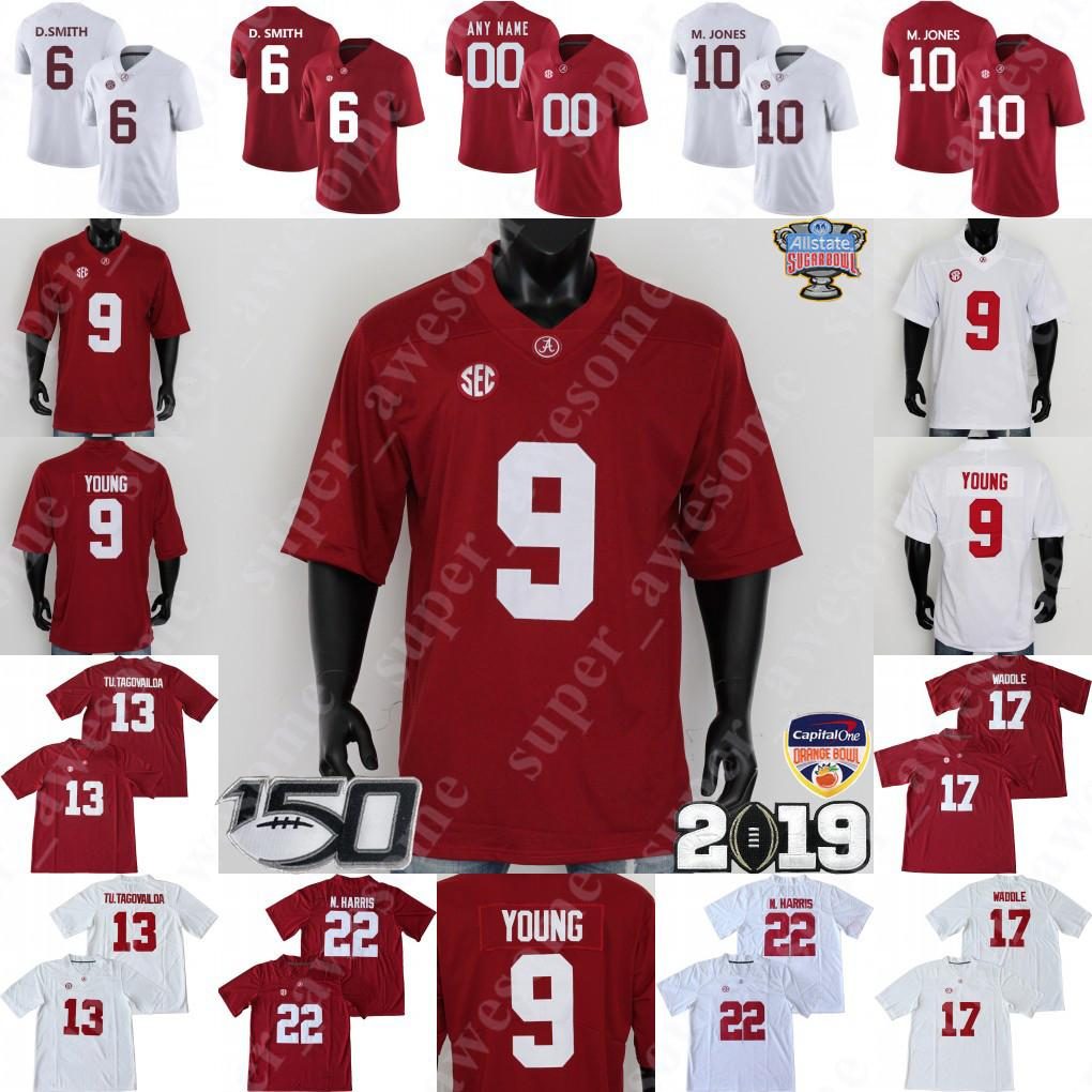 NCAA Alabama Crimson Tide футбол Джерси 9 Bryce Молодые Туа Tagovailoa Джерри Jeudy Najee Харрис Jaylen Waddle Mac Джонс DeVonta Смит