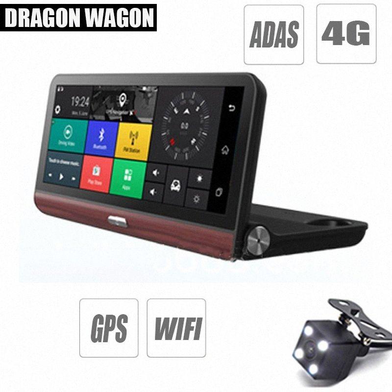 Cámara del coche DVR 4G ADAS Navigator Registrador Video7.80 Android 5.1 GPS Dash Pro registrador de la leva con dos cámaras Morror AgJ1 #