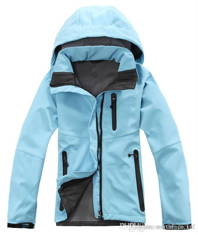 giacca a basso prezzo Primavera Autunno Inverno Donna Softshell giacche in pile Soft Shell chaqueta Snowboard Escursionismo Camping Windbreaker S