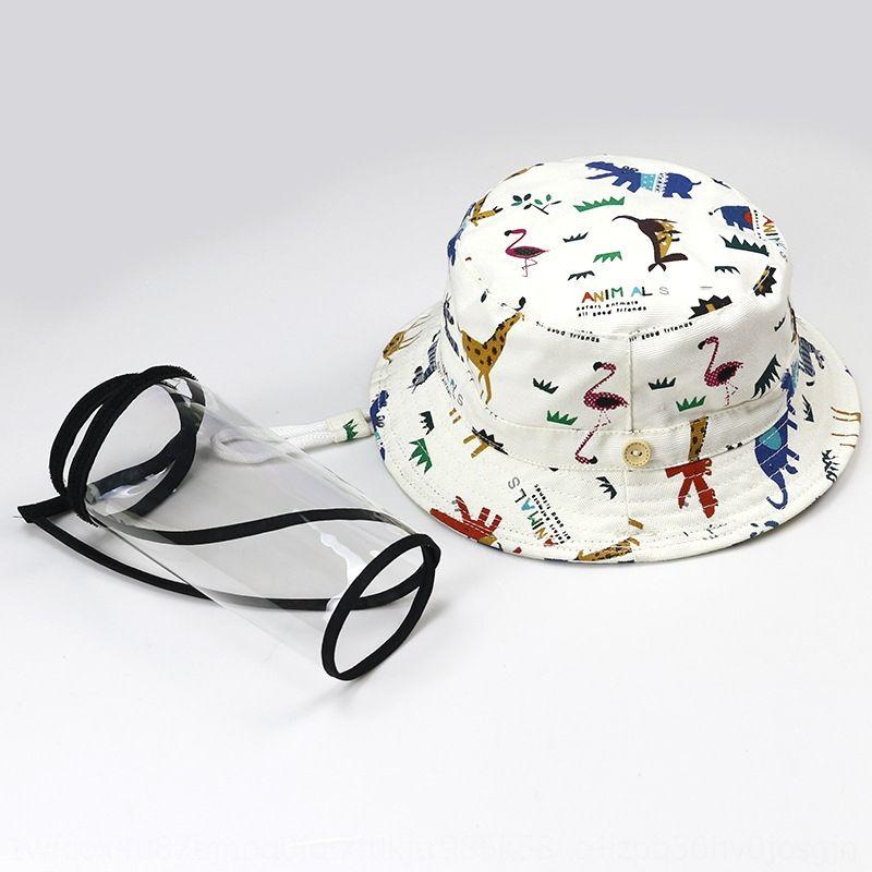 Bambini protezione cappello pescatore secchio di protezione rimovibili anti-flying protezione del bacino cap del bambino puro cotone schiuma del pescatore di anti-u