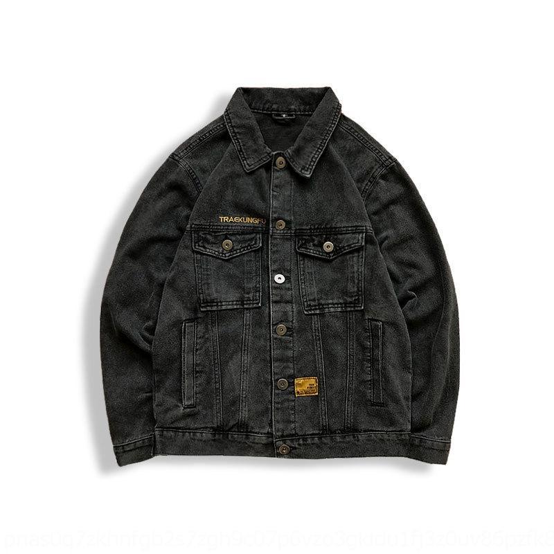 3qpeS xuLTd 2020 primavera ricamato nuovo multi-tasca ricamo classico inglese moda lavato giacca di jeans tutto-fiammifero giacca di jeans
