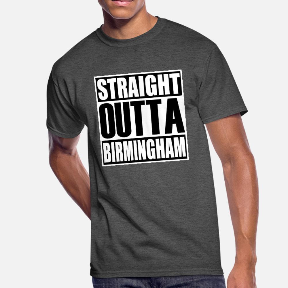 Retas shirt Homens Outta Birmingham T bonito Algodão S-Xxxl Formal bonito Edifício Primavera Novidade
