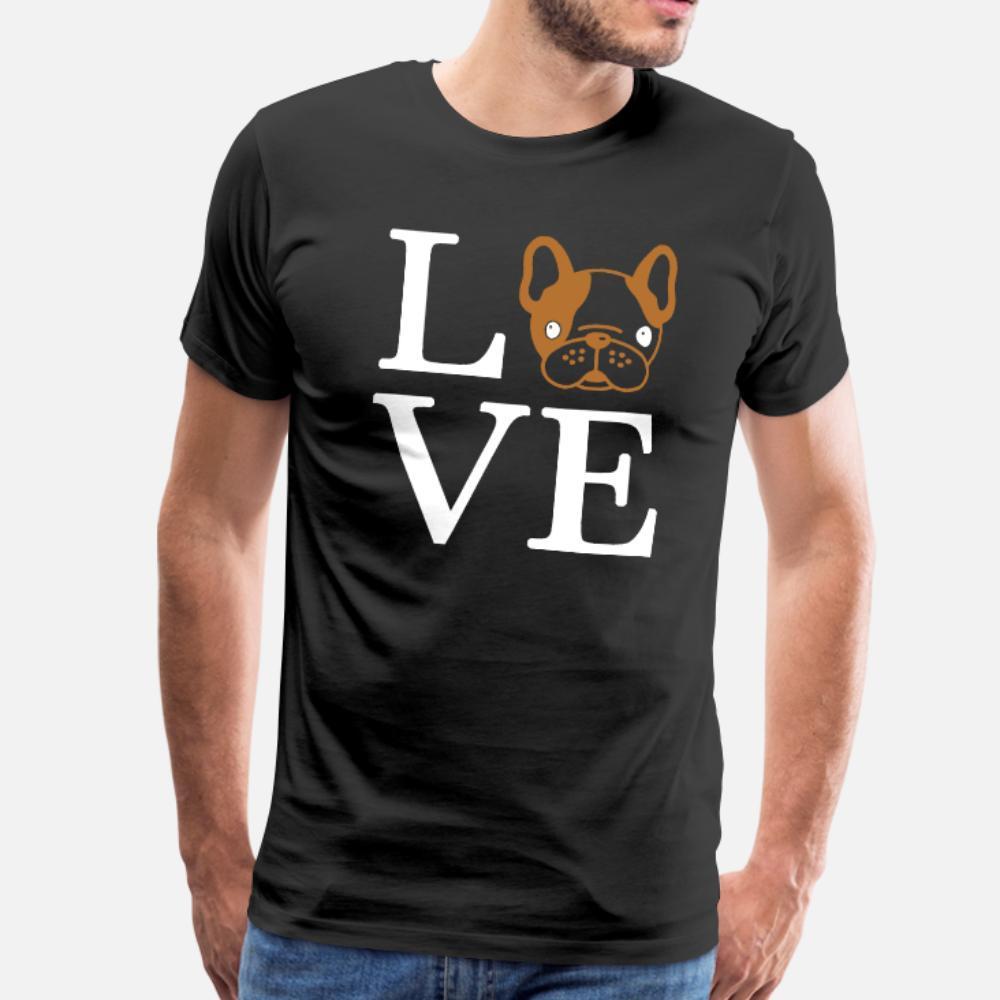 L'amour rien de plus que le coton t-shirt Frenchies designer hommes col rond de loisirs fou d'été authentique chemise unique