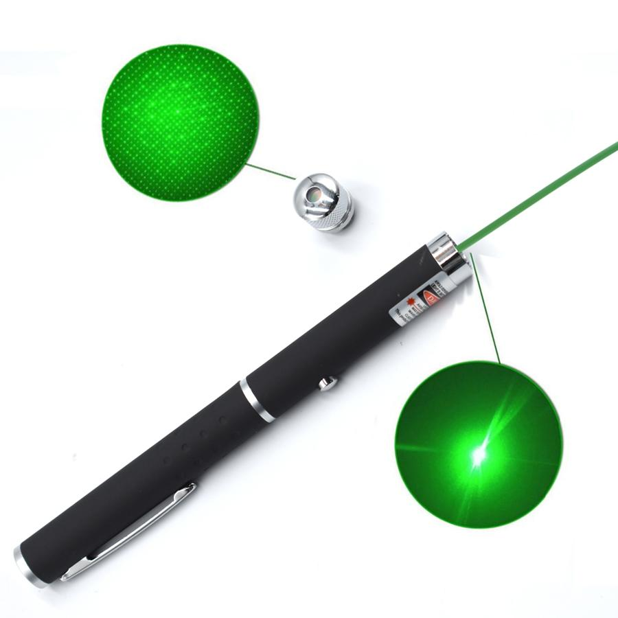 2 in 1 Laserpointer Stift 5mw 532nm mit Sternkappe Leistungsstarkes Lehramt mit Stylus-Stiften