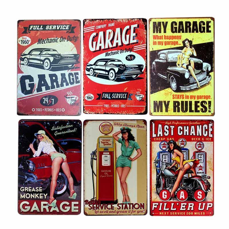 Assinar Decor Plaque Vintage Pub Decoração Poster Recados 20x30cm retro decorativa Garage Cafe Placa de Metal Início jNOvB