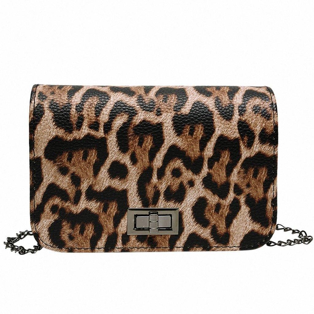 Leopardo de las señoras Plazoleta bolso de la manera ocasional del hombro de la bolsa de mensajero muchacha exquisita cintura original elegante de las señoras de teléfono PYEG #
