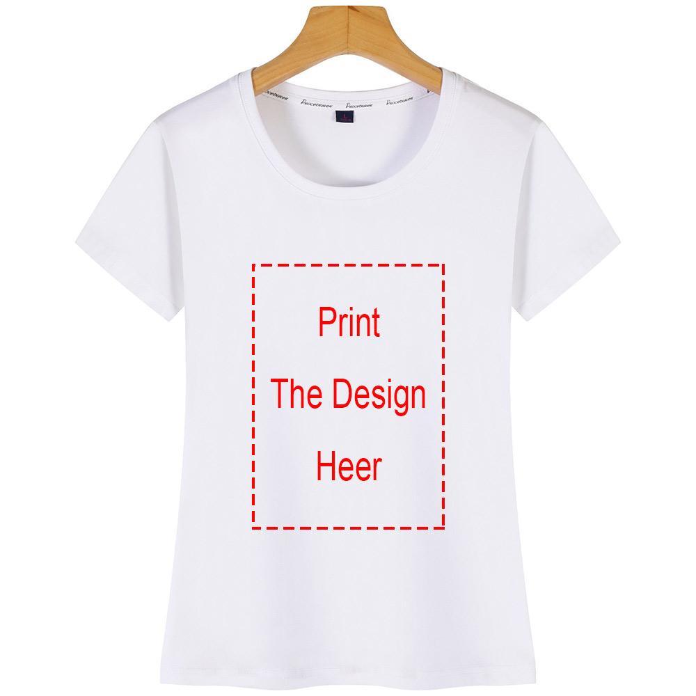 Más el tamaño S-5XL 100% algodón camiseta del planeta encantador Impresión del gato camiseta de las mujeres camiseta de manga corta o cuello Tees verano tapas de la ropa