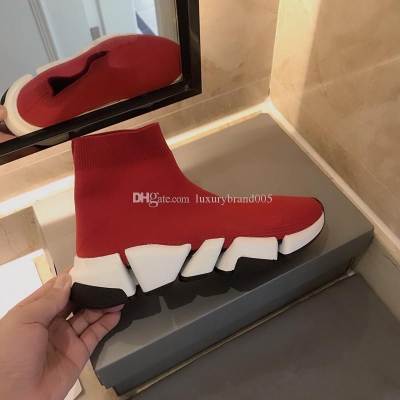 Мода Горячей обувь класса люкса Носок для мужчин и женщин, самого последней скорость нового прибытия и Триколор Сола, моды Фирменных кроссовок size35-44 8889