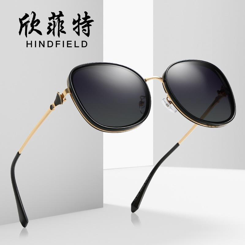Sun-Glas-Metall-TAC Halbrahmen Unisex Fashion Show 100 Anti-UV-Photochrome kleines Gesicht Polarisierende Anti-Reflection UV400