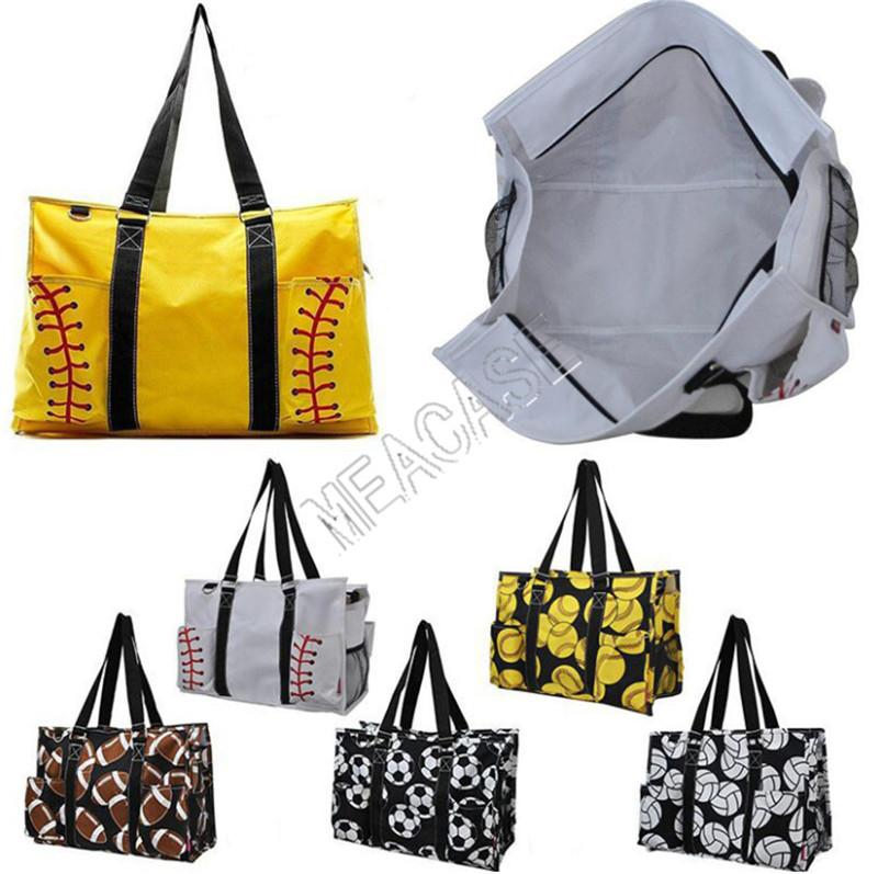 Softball Baseball gioco della palla Stampa borsa di viaggio Duffle Bag Canvas Designer donne shopping Borse Sport Yoga Fittness borse a spalla D81311