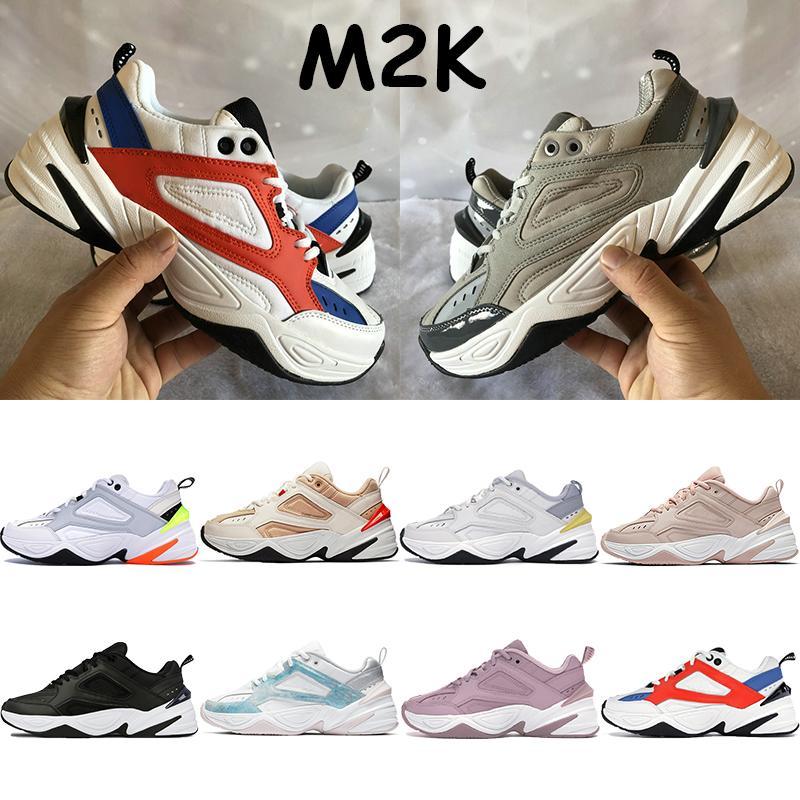Hommes femmes chaussures de course m2K atmosphère grise jade noir blanc beige hommes teinte orange pur platine entraîneurs sportifs de tekno chunky