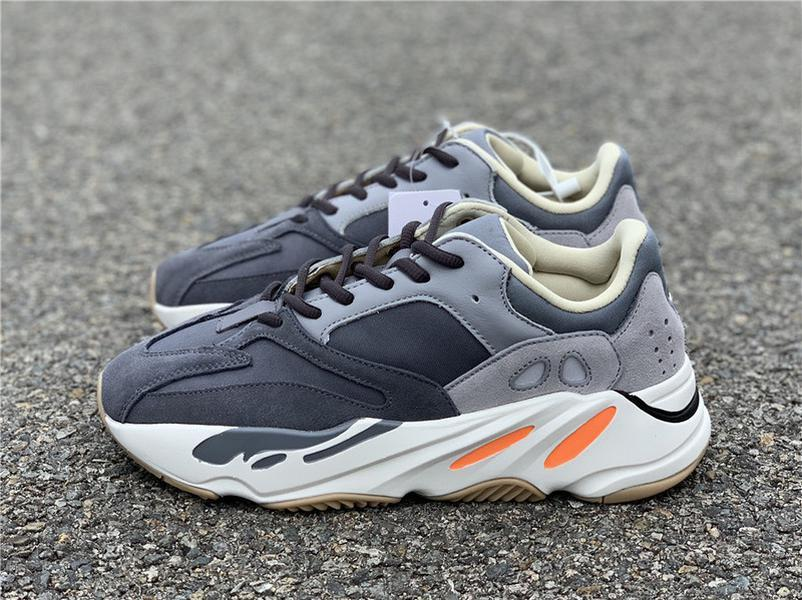 En Originals 700 Mıknatıs Dalga Runner Ayakkabı Koşu Kanye West Tasarımcı Teal Mavi 3M Yansıtıcı Erkekler Kadınlar Otantik Spor Sneakers ile Kutusu