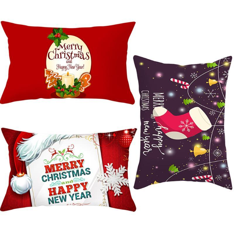 Cushion/Decorative Pillow 1pcs 30*50cm Sofa Christmas Cushion Cover Throw Case For Navidad Year Home Bedroom Party Supply