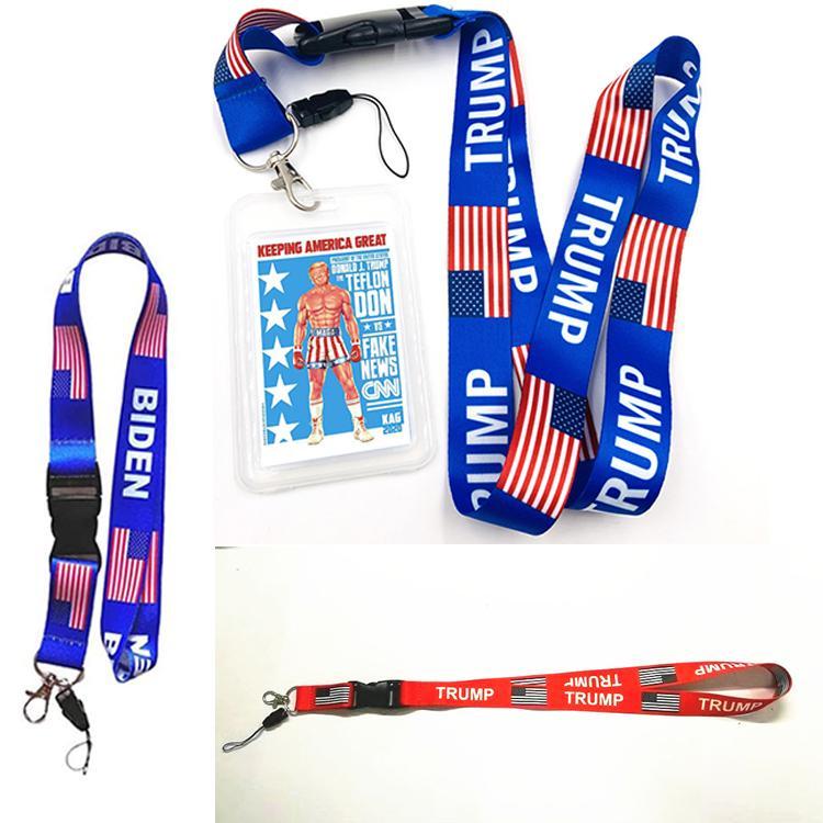 Hot Donald Trump Biden U.S.A. Removable Flagge der Vereinigten Staaten Schlüsselanhänger Badge Anhänger Partei-Geschenk moble Telefon Schlüsselband Schlüsselanhänger