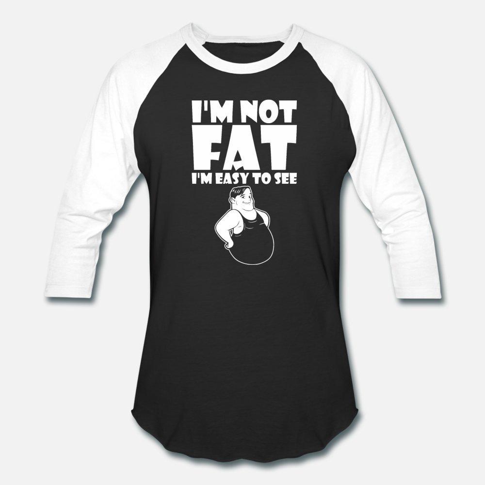 Im не Fat Im Легко видеть Прохладный Шутка Смешные тенниска мужчин напечатаны 100% хлопок S-3XL Unisex Sunlight Смешной лето Стандартная рубашка