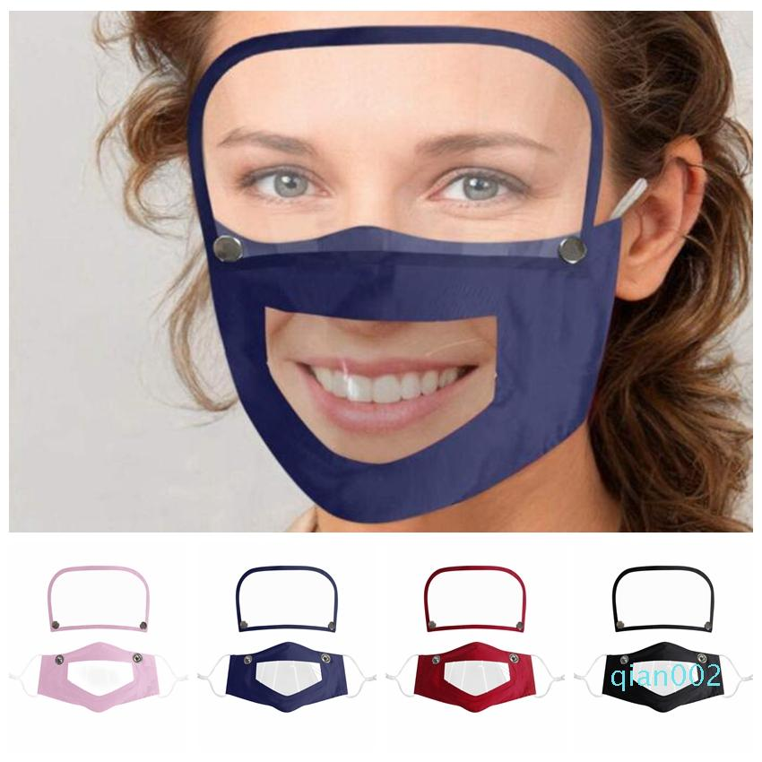 2 в 1 Маска Съемная Eye Shield Маска Маски для взрослых Съемная Face Видимые Маски Рот глухонемой лица анфас масло Защитная маска CCA12356