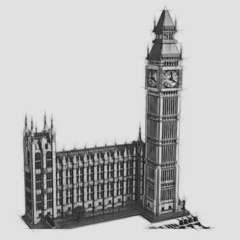 17005 Big Ben Elizabeth Tower Model Kits blocs de construction Briques de bricolage Jouets Compatible avec 10253 Cadeaux de Noël