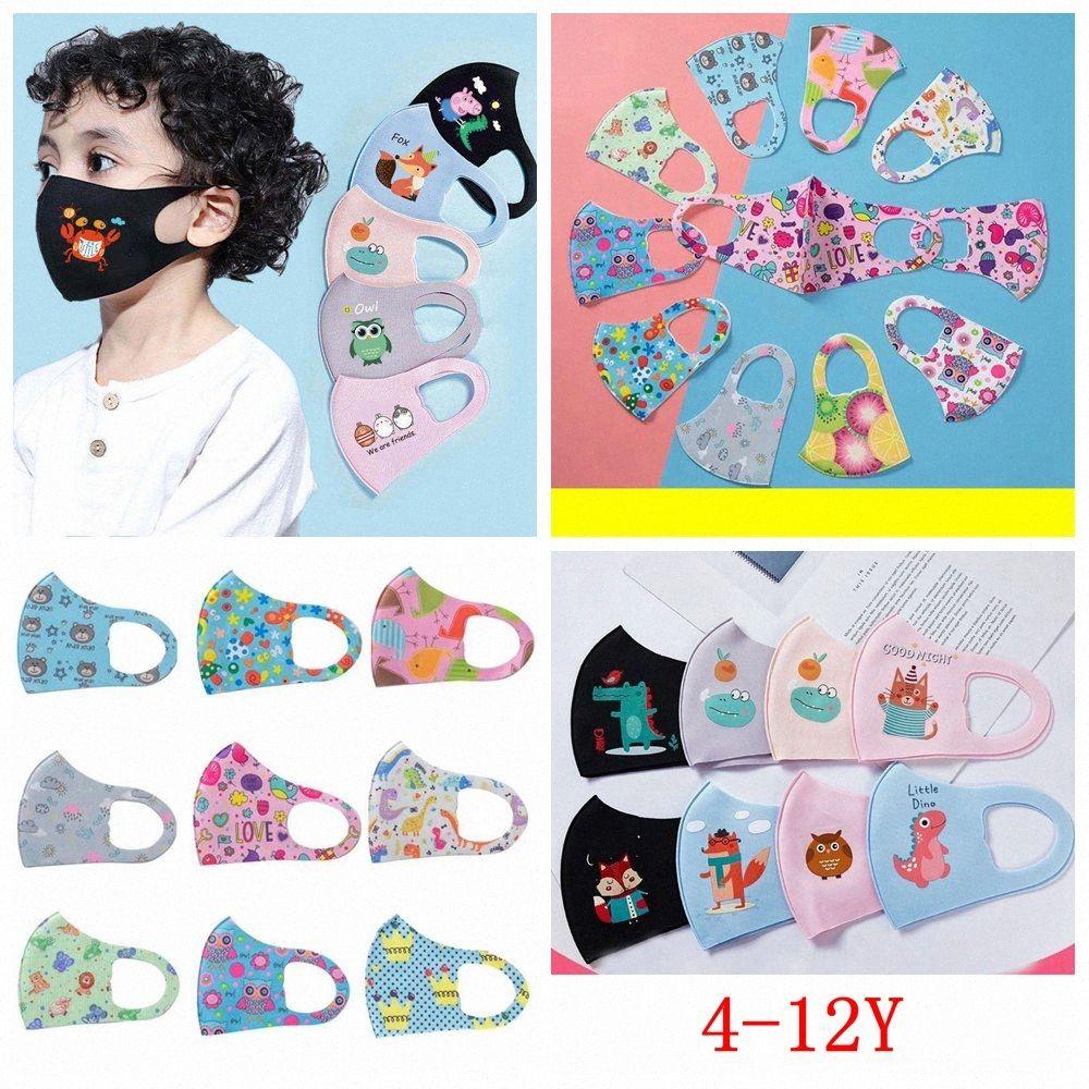 Crianças Máscaras impressos Rapazes Meninas dos desenhos animados da cara Boca Máscaras Crianças macio respirável Earloop exterior poeira Máscara FFA4029 oiH3 #