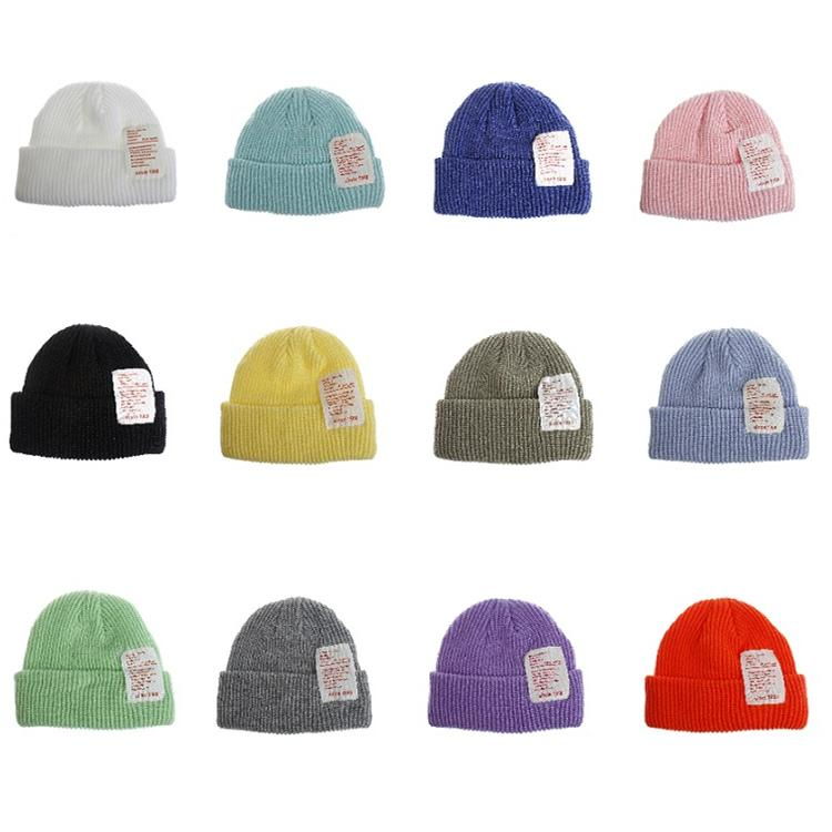 Frauen gestrickte Beanies Hut nette warme Süßigkeit färbt Winter-Hut-verursachende Außen Lady Travel Camping Ski Cap T2C5078