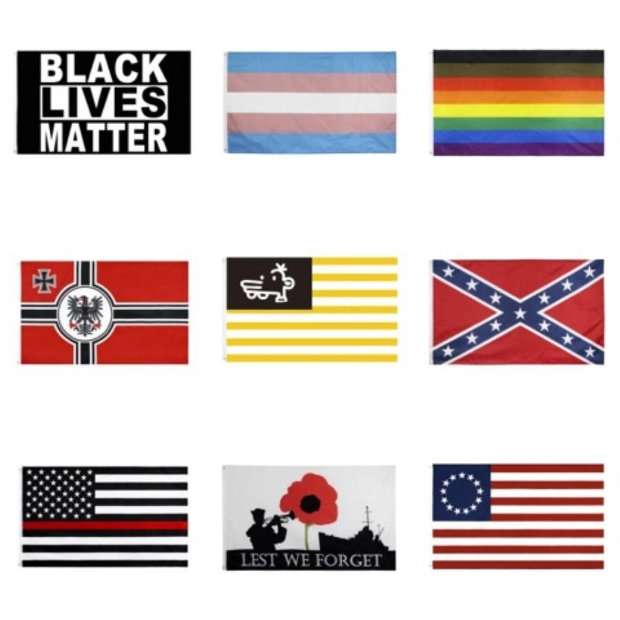 Brass ile 90 * 150cm ABD Bayraklar Blue Line ABD Polis Bayraklar 3X5 Ayak İnce Kırmızı Hat Siyah Beyaz Ve Mavi Amerikan Bayrağı # 219 Grometler
