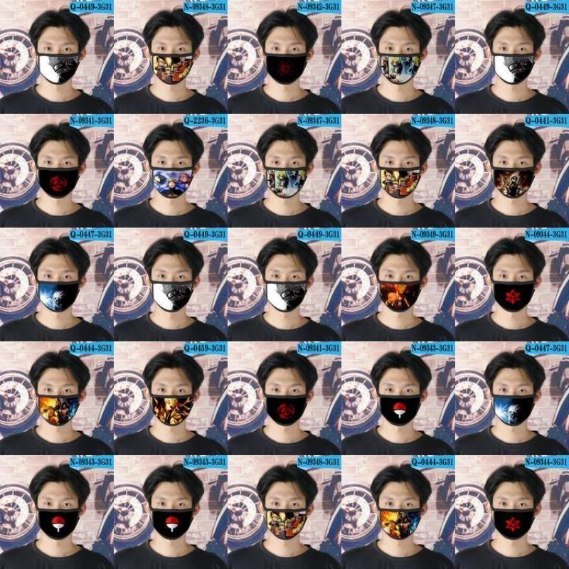 Yüz AO3 Tapabocas AO3 için Cubrebocas Naruto Yüz Man Naruto Tasarımcı 29 Yeniden kullanılabilir Karikatür AHYzy zlhome Maskesi