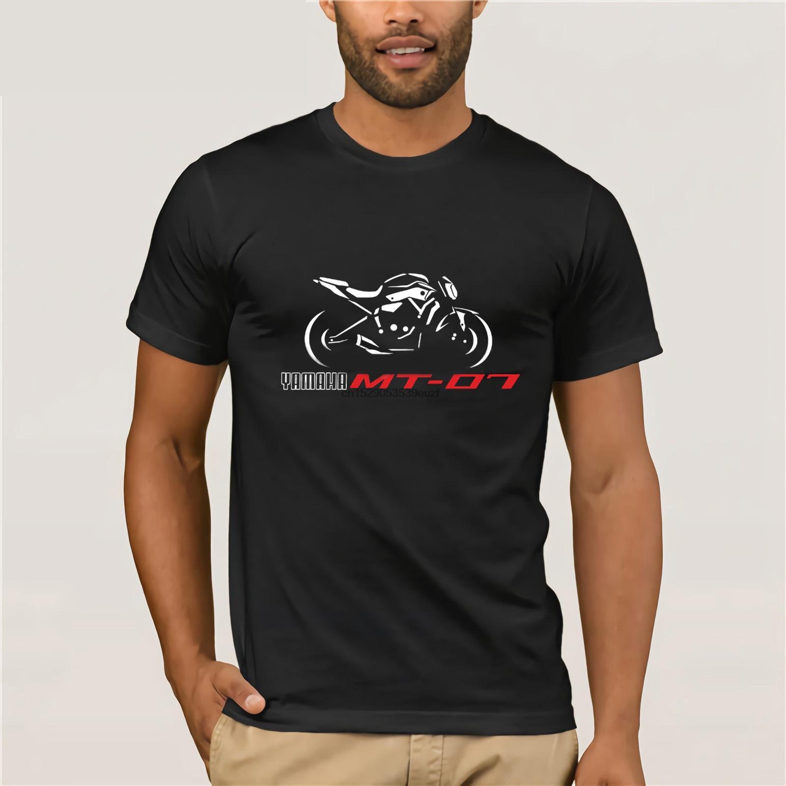 T-shirt T-shirt Casual Homens de Moda de Nova para motocicletas Mt 07 Camiseta T-shirt Mt07