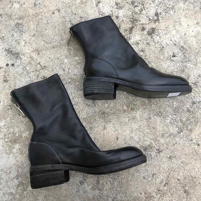 2020 Australia Cowboy Style Vintage Martin Boots With Back Zipper Round Toe Soft Horse Leather And Goodyear Craft Sole 796 Ankle Bottes