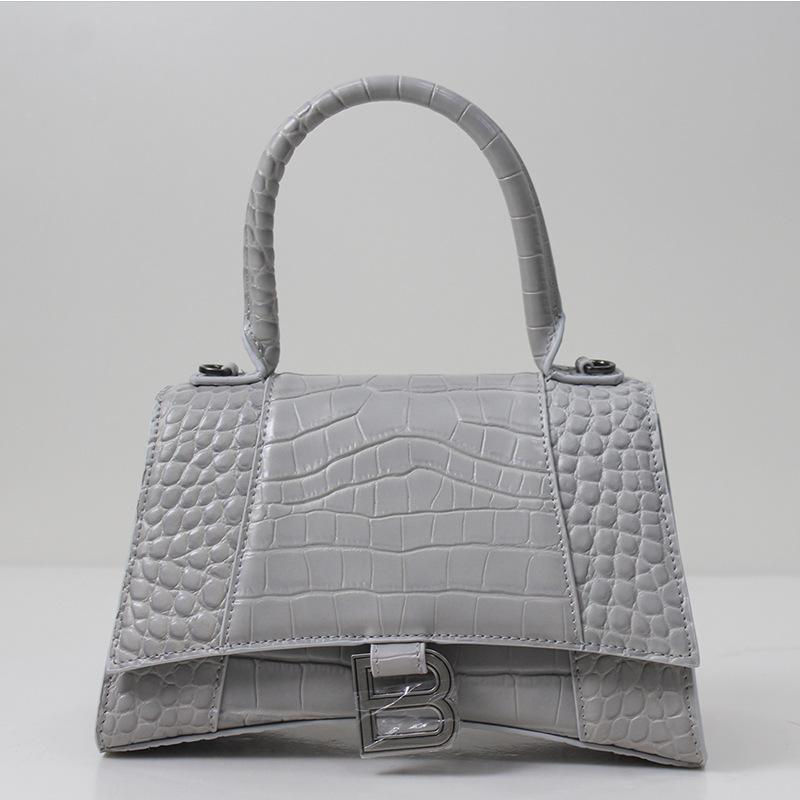 2020New Marca de moda estilo de diseño de lujo bolso de reloj de arena bolso de mujer bolsas para mujer bolsas de hombro cocodrilo cuero dividido b marcador Qu CNDC