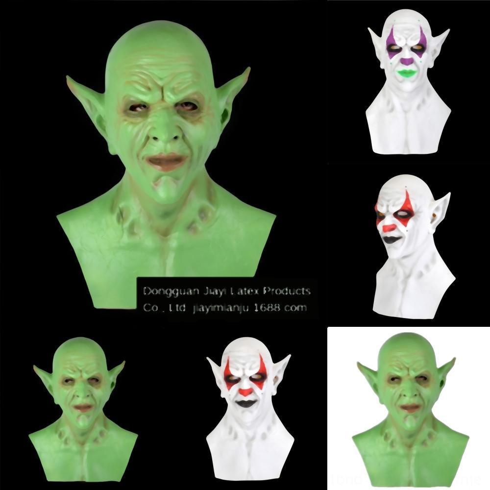 a83m9 Partei Cosplay Led glühende Maske Königs Es Maske Halloween Horror Clown Clown Stephen Joker Maske Pennywise Cosplay Props