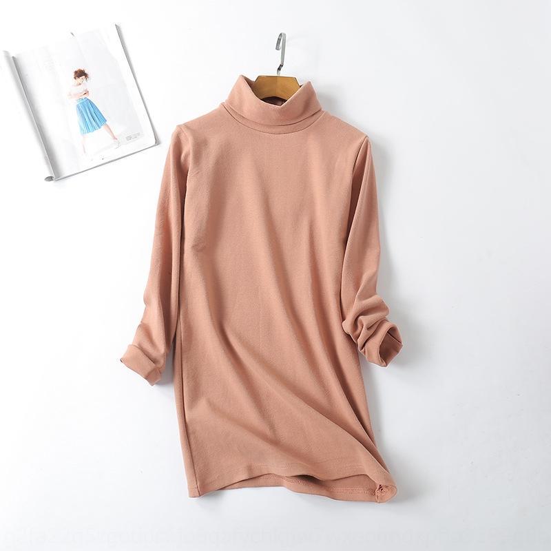 wmTFo autunno nuovo maglione dei vestiti del maglione di stile dimensione di base slim fit Maglia a manica lunga collo alto grande camicia lunga coreana