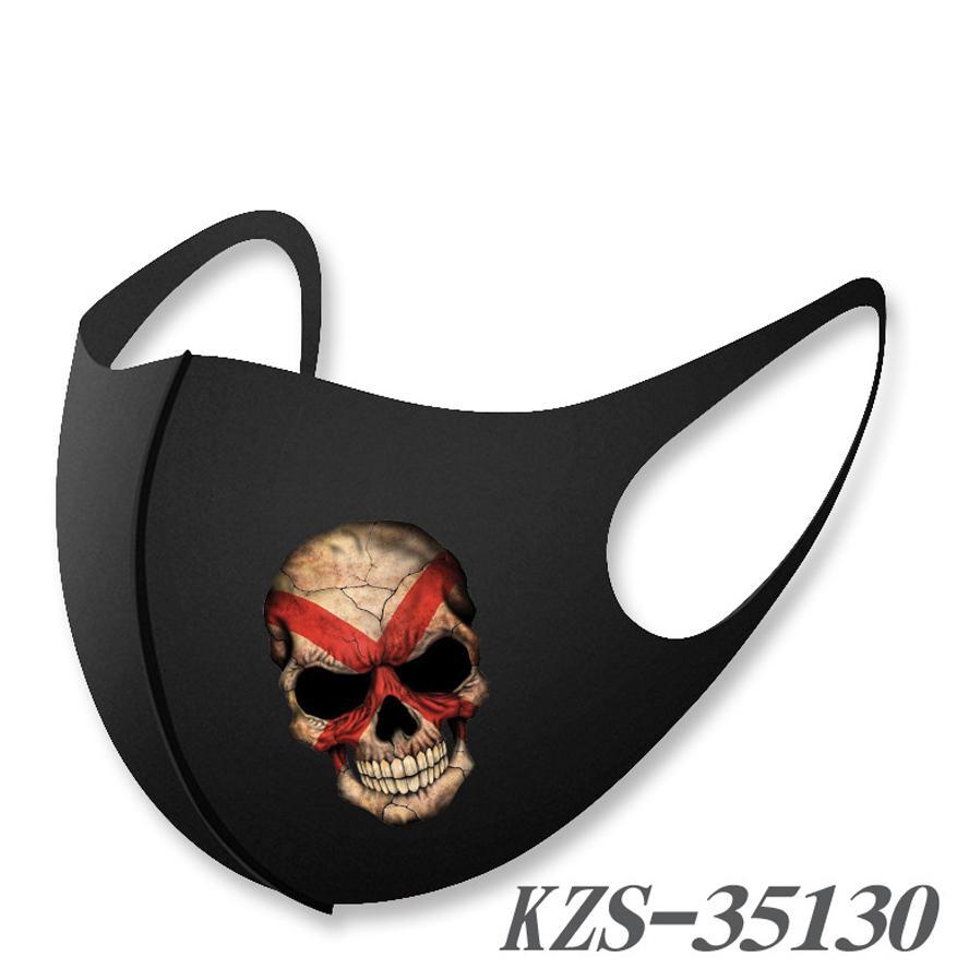 Gesichtsmaske Mode Gesichtsmasken auf Lager Hot-Verkauf atmungsaktiv waschbar warme Maske Anti-dropping Maske um Flagge Schädel