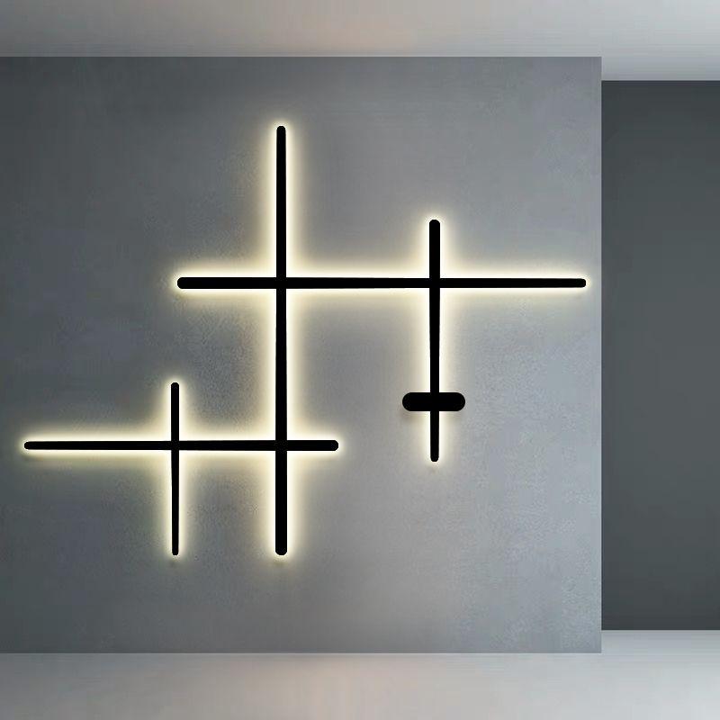 Современный светодиодный свет линия стены лампы простой дизайн закрытый домашний декор Освещение гостиной украшение лампа придел коридора настенные светильники