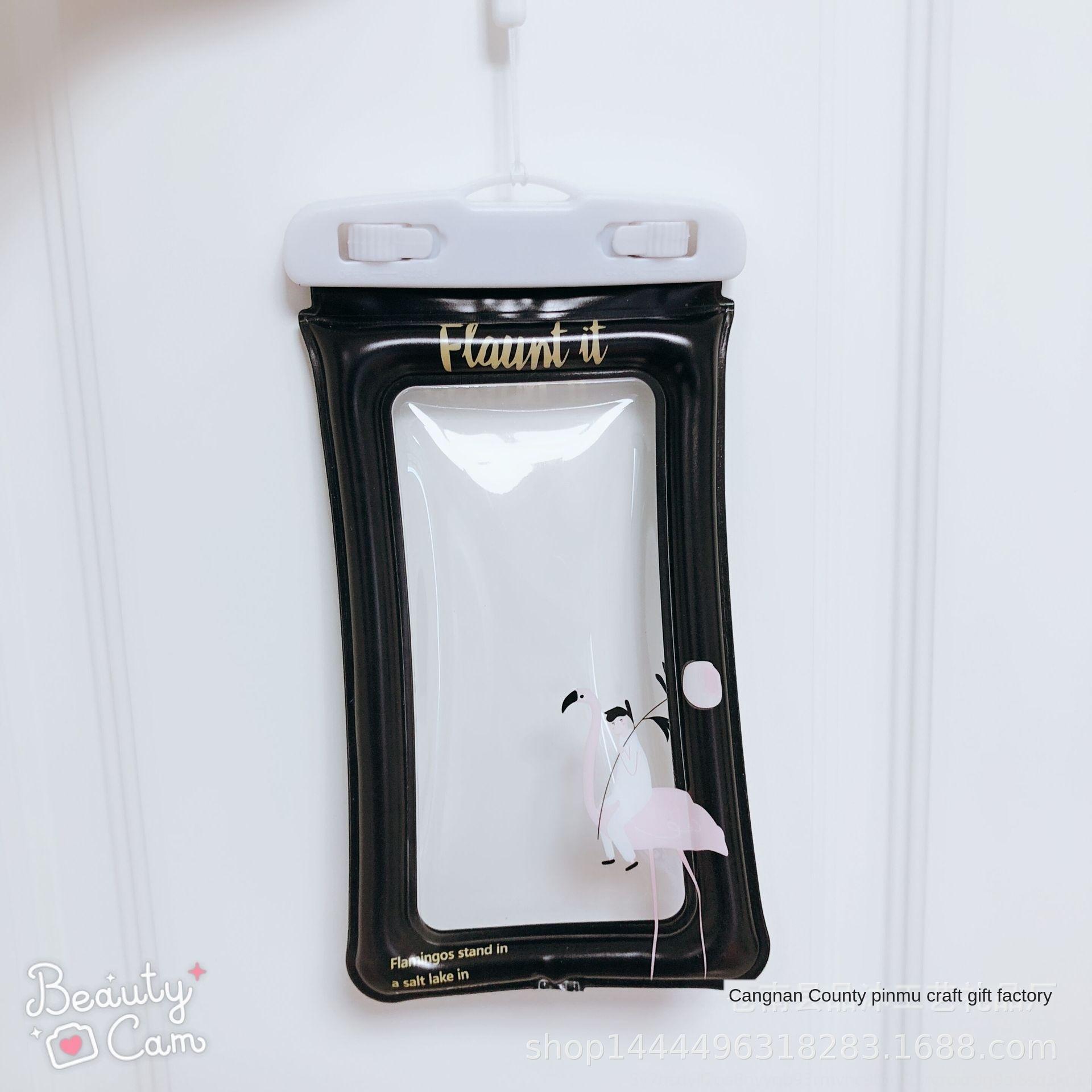 T productos al aire libre de aire inflable inflable del teléfono móvil resistente al agua bolsa de dibujos animados teléfono móvil bolsa impermeable fRu06