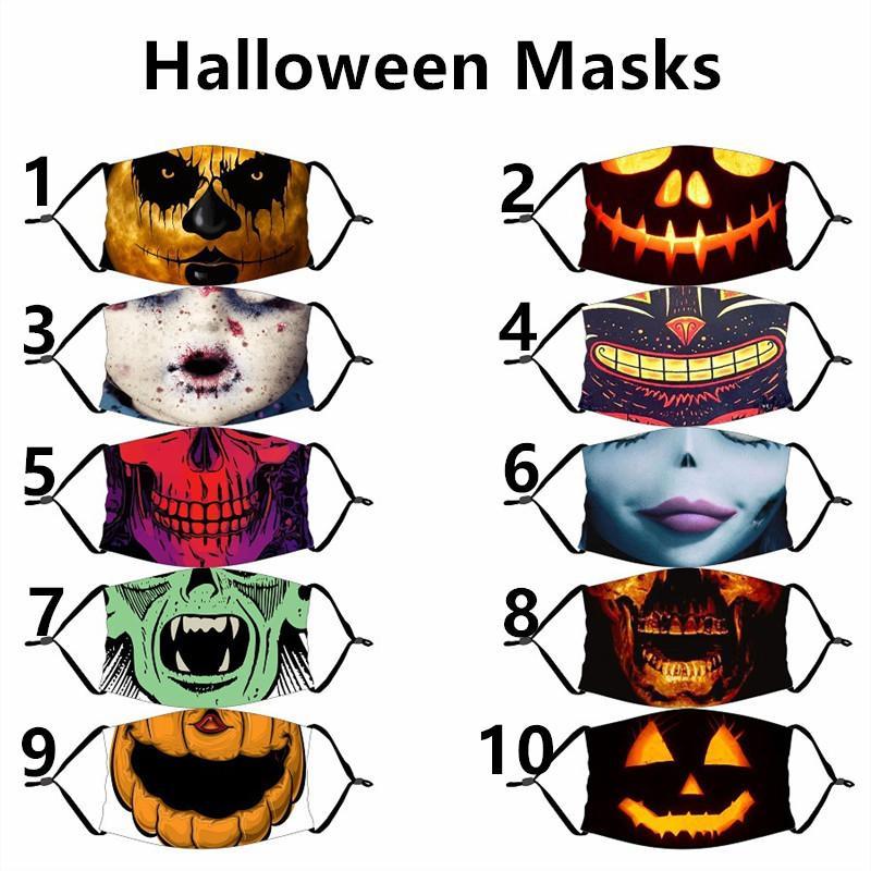Halloween Fashion Face Mask Dustproof Cotton Masks Designer Washable Reusable Festival Face Mask Cycling Masks Free Shipping