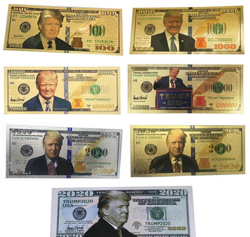 Goldmünze Dhl Trump Bills Gedenk Versand Banknoten Crafts Schnell Donald Allgemein Foil Amerika Wahl Us 24k Dollar Präsident fNNAA
