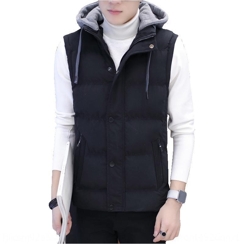 erkek kalınlaşmış moda sıcak yelek gençlik ince yelek ceket moda markası yelek pamuk vestdown Kış erkek sıcak