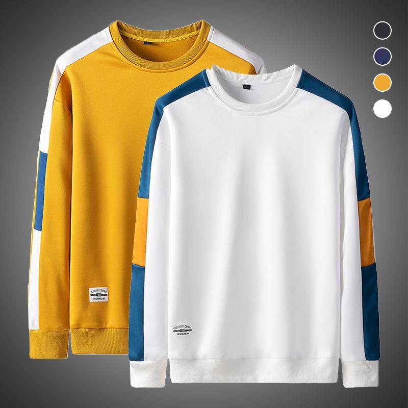 Sweats à capuche Homme Sweatshirts Mode Harajuku Men Marque Hip Hop Sweat-shirt 2021 Col Cou de l'équipage automne à manches longues à manches décontractées Sweatshrits Homme